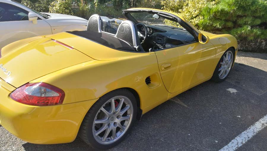 porsche boxster s 2000 jaune vitesse speed gelb yellow 02