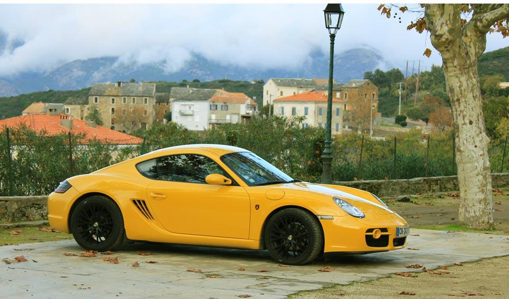 porsche cayman 987 2l7 2006 jaune vitesse-01