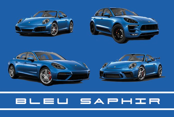 bleu saphir m5j peinture m tallis e porsche 911 718 macan panamera. Black Bedroom Furniture Sets. Home Design Ideas