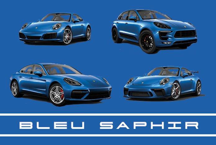 Bleu saphir m5j peinture m tallis e porsche 911 718 macan - Peinture couleur bleu ...