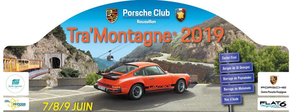 Porsche Club plaque rallye Tra'montagne 2019