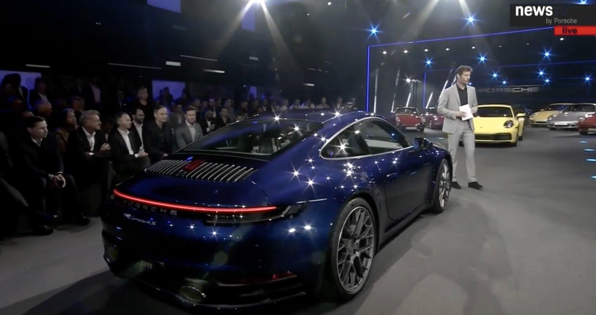 Presentation nouvelle Porsche 911 992