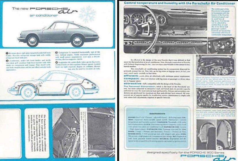 SYSTEME CLIMATISATION-PORSCHE 911 CLASSIC 1967