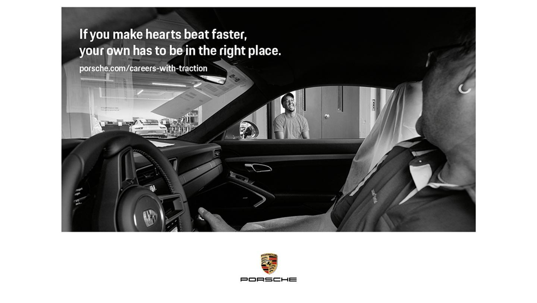 Campagne recrutement Porsche