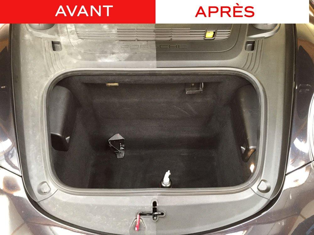 nettoyage plastique coffre Nano Express Porsche Swissvax