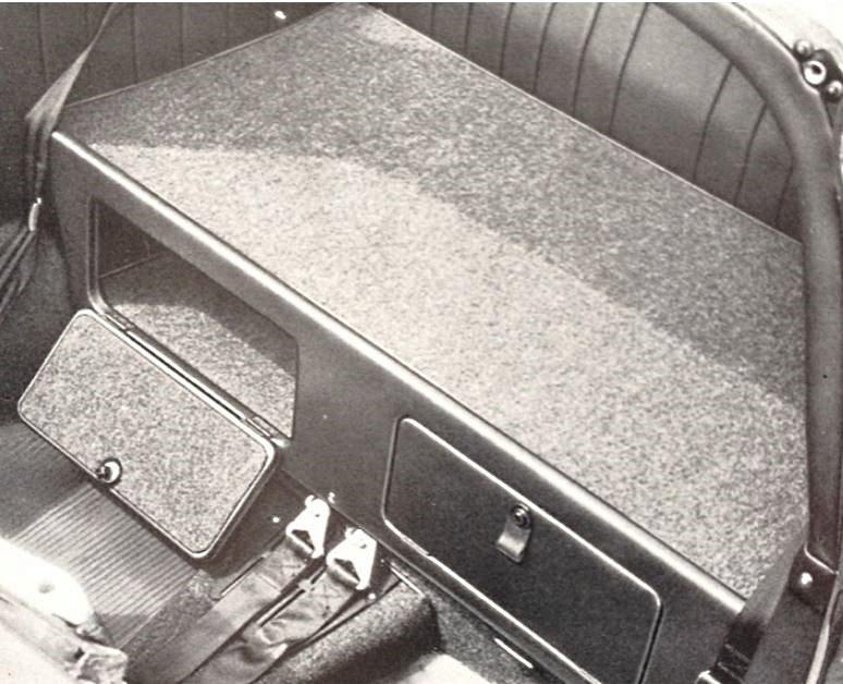 option 2 coffres porsche 911 Targa 1967