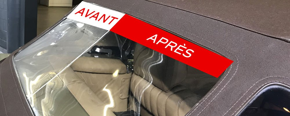 refection plastique capote cabriolet